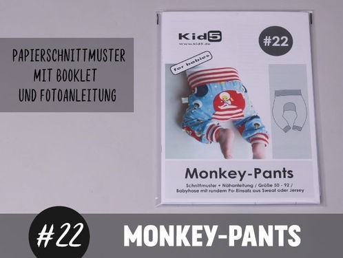 Papierschnitt Monkey-Pants