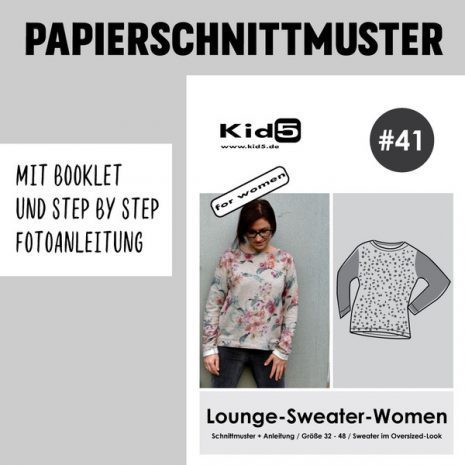 Papierschnitt Lounge Sweater Woman
