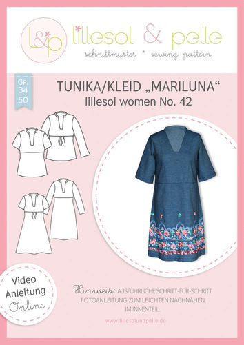 Papierschnitt lillesol woman No.42, Tunika/Kleid Mariluna